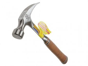 E20S Straight Claw Hammer - Leather Grip 560g (20oz)